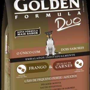 GOLDEN FORMULA DUO CÃES ADULTOS FRANGO E SELEÇÃO DE CARNES