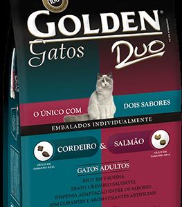 GOLDEN GATOS ADULTOS DUO CORDEIRO E SALMÃO