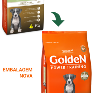 GOLDEN POWER TRAINING CÃES FILHOTES SABOR FRANGO & ARROZ