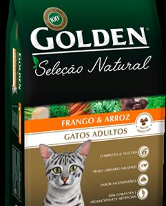 GOLDEN SELEÇÃO NATURAL GATOS ADULTOS SABOR FRANGO & ARROZ