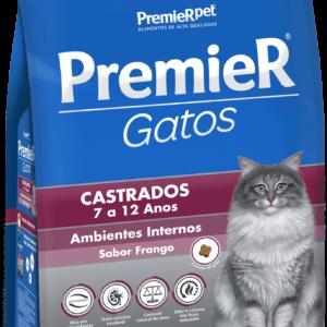 PREMIER GATOS CASTRADOS DE 7 A 12 ANOS FRANGO