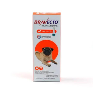 Bravecto Antipulgas E Carrapatos Transdermal Cães 4,5 A 10Kg