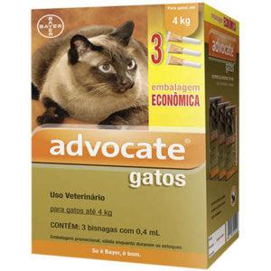 Antipulgas Combo Advocate Bayer para Gatos de até 4 Kg – 0,4 mL