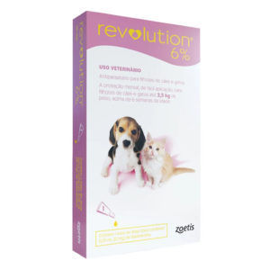 Antipulgas Revolution 6% 15mg Cães e Gatos 2,5kg