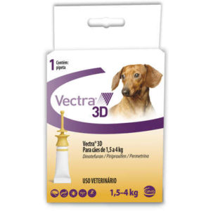 Antipulgas e Carrapatos Ceva Vectra 3D Cães de 1,5 a 4 Kg 0,8 mL