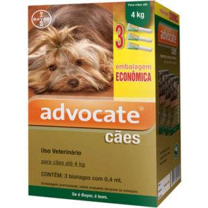 Antipulgas Bayer Advocate para Cães até 4 Kg – 0,4 mL