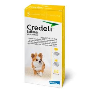 Antipulgas e Carrapatos Elanco Credeli para Cães 56,25 mg ( CAIXA AMARELA )