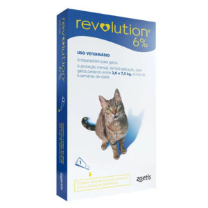 Antipulgas Revolution 6% 45mg Gatos 2,6 a 7,5kg